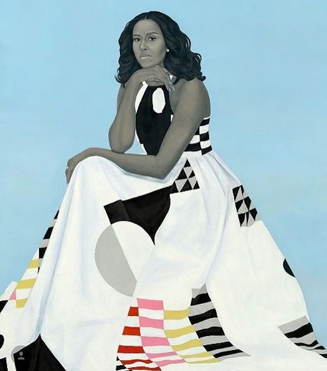 How gorgeous is the official portrait of former First Lady Michelle Obama? Absolutely Stunning! 😍