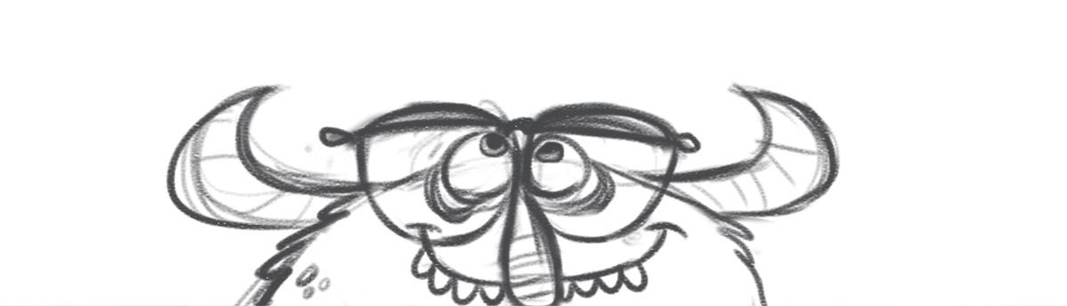 Josh Cleland Monster sketch