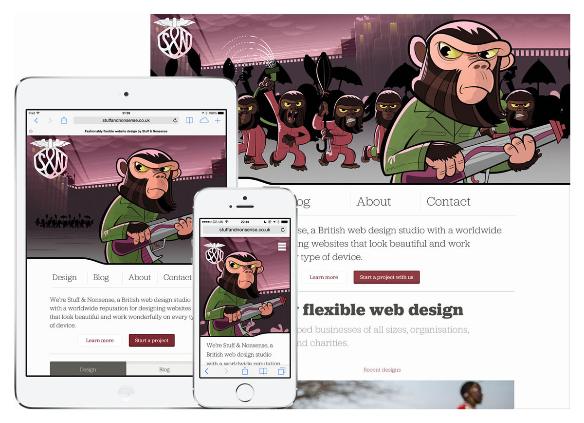 Stuff and Nonsense Apes header responsive