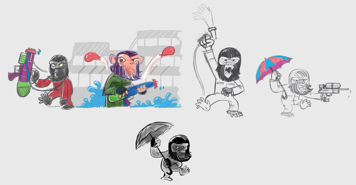 Stuff and Nonsense Apes header Sketches