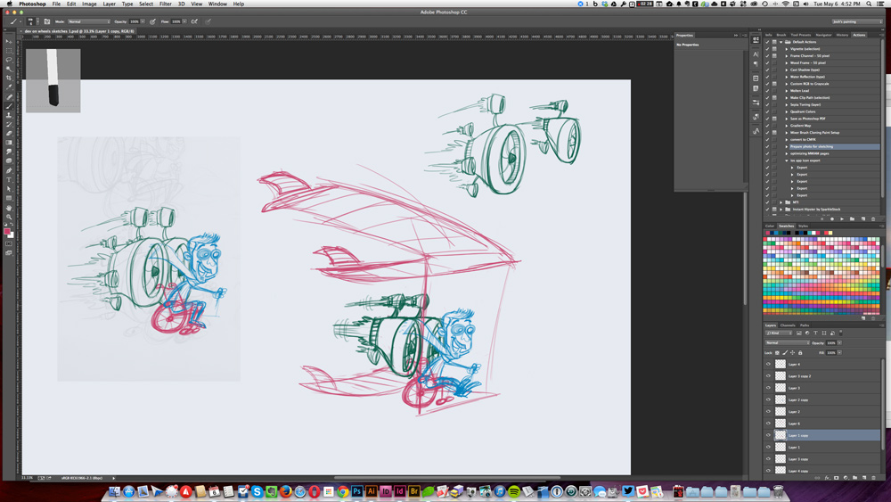 Dev on Wheels Header Illustration Sketch 1