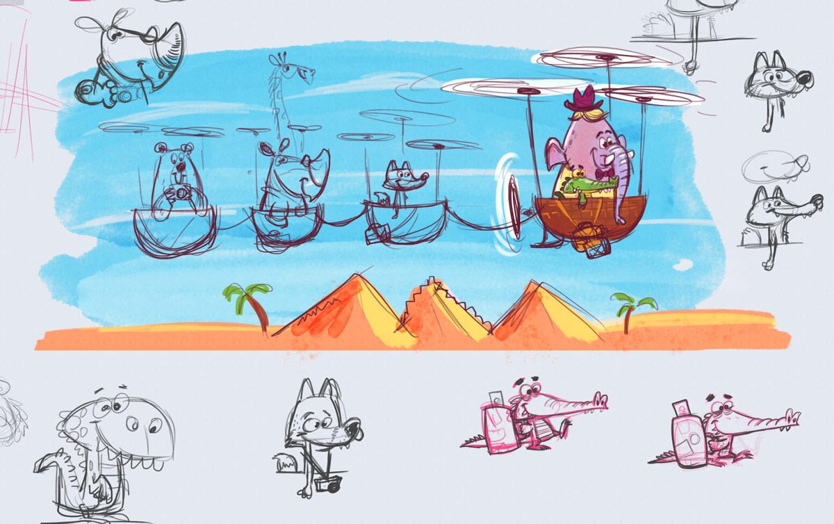 Travelers doodle - Josh Cleland