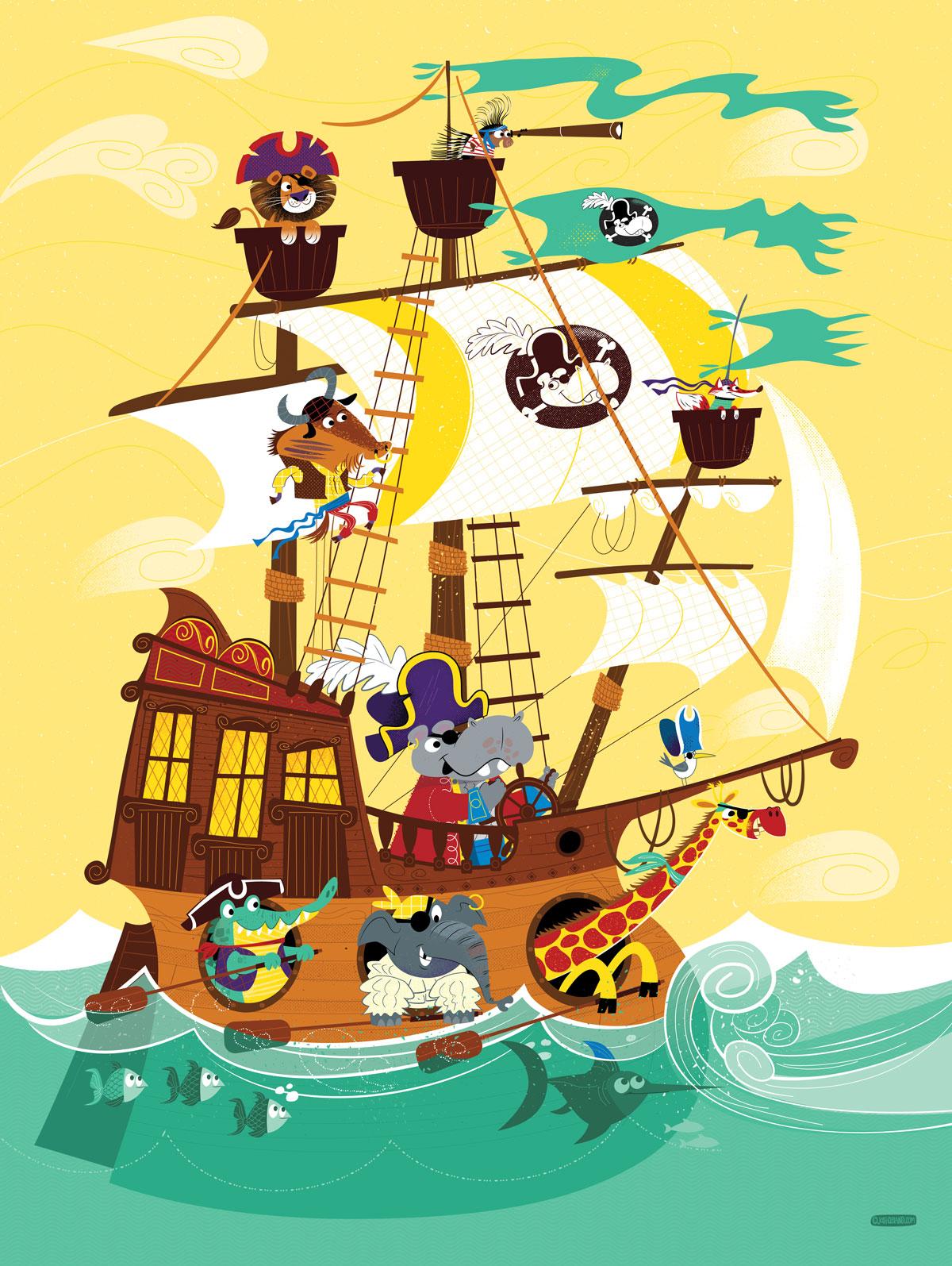 Animal Pirate Ship