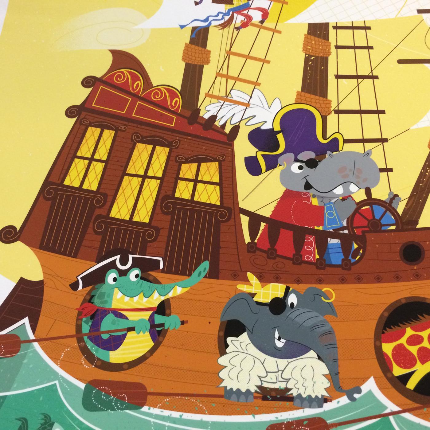 Animal Pirate Ship detail 2