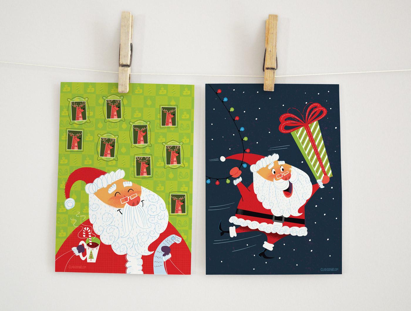 Santa card mockups
