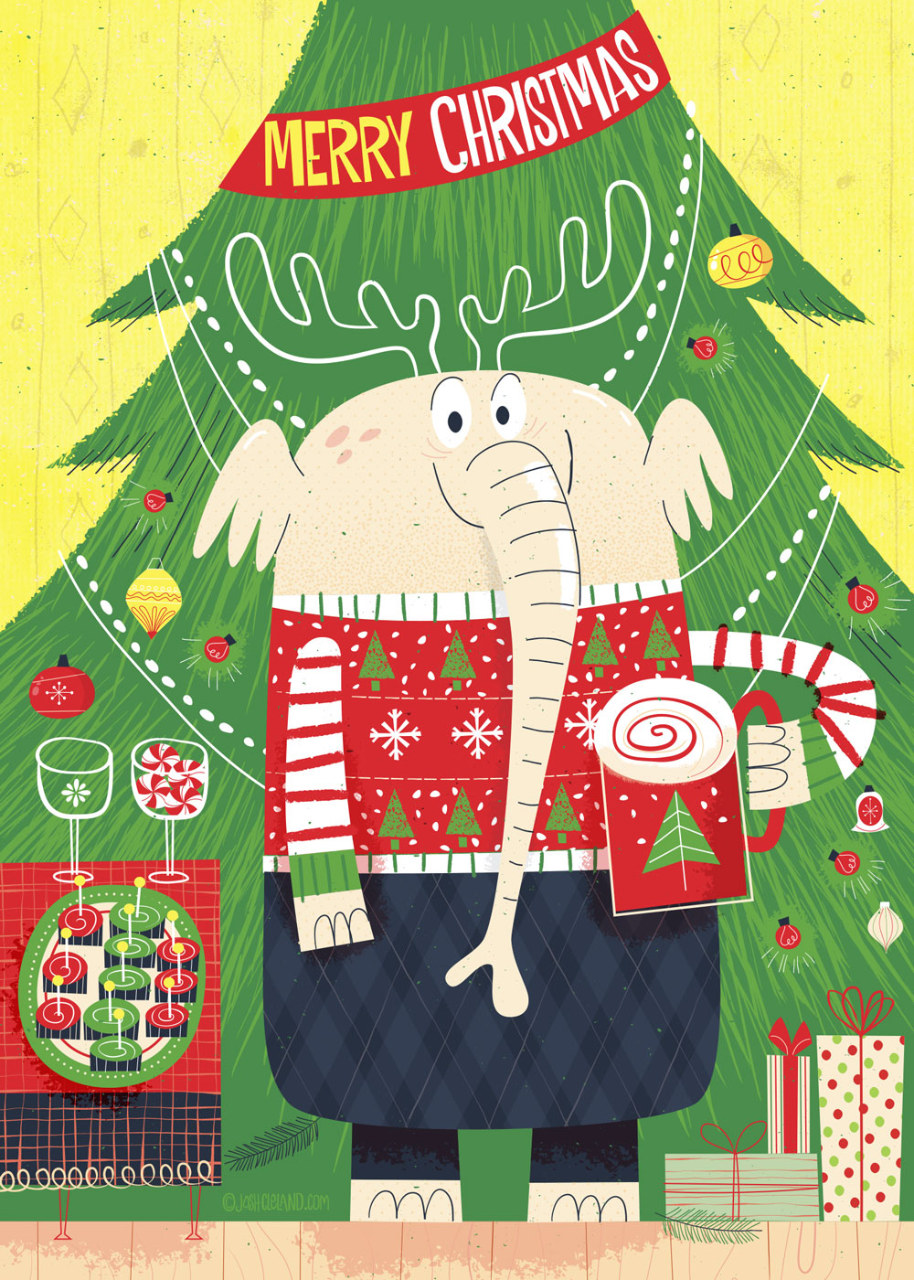 Larry the Christmas elephant by Josh Cleland