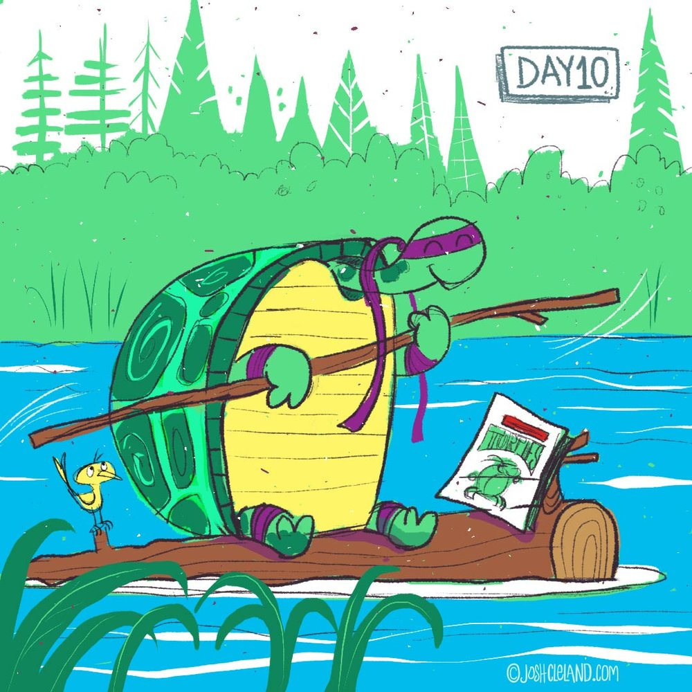 Land of Cle by Josh Cleland Ninja Turtles