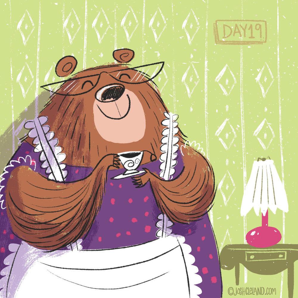 Mamma bear illustration by Josh Cleland