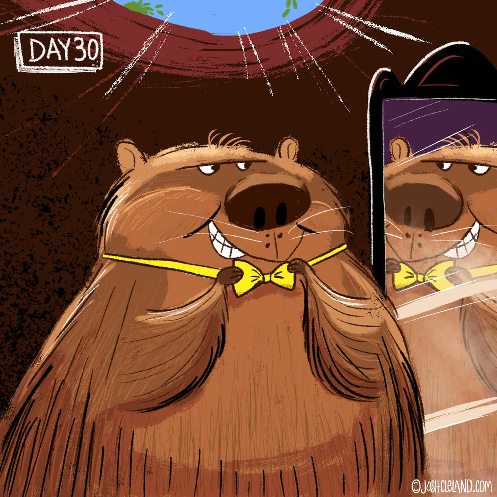 Land of Cle week 5 groundhog illustration by Josh Cleland