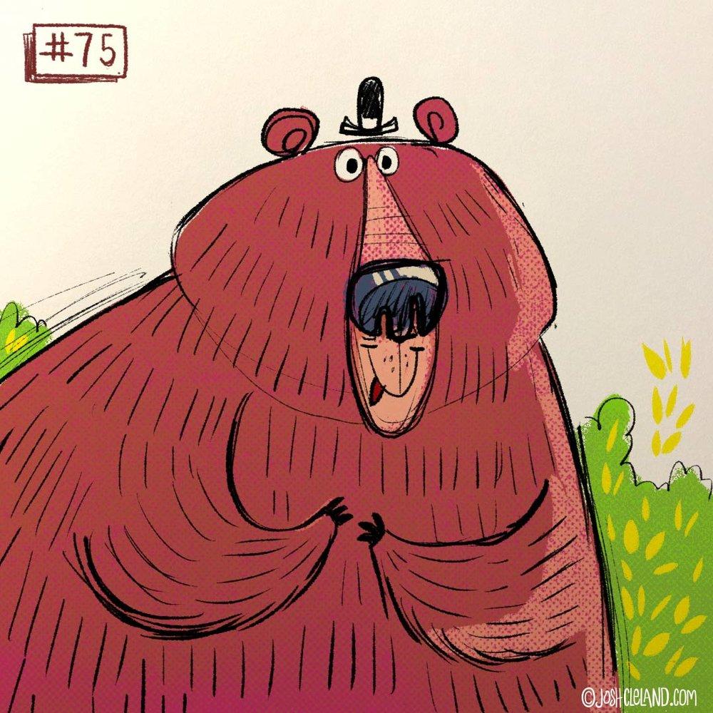 Land of Cle bear illustration by Josh Cleland