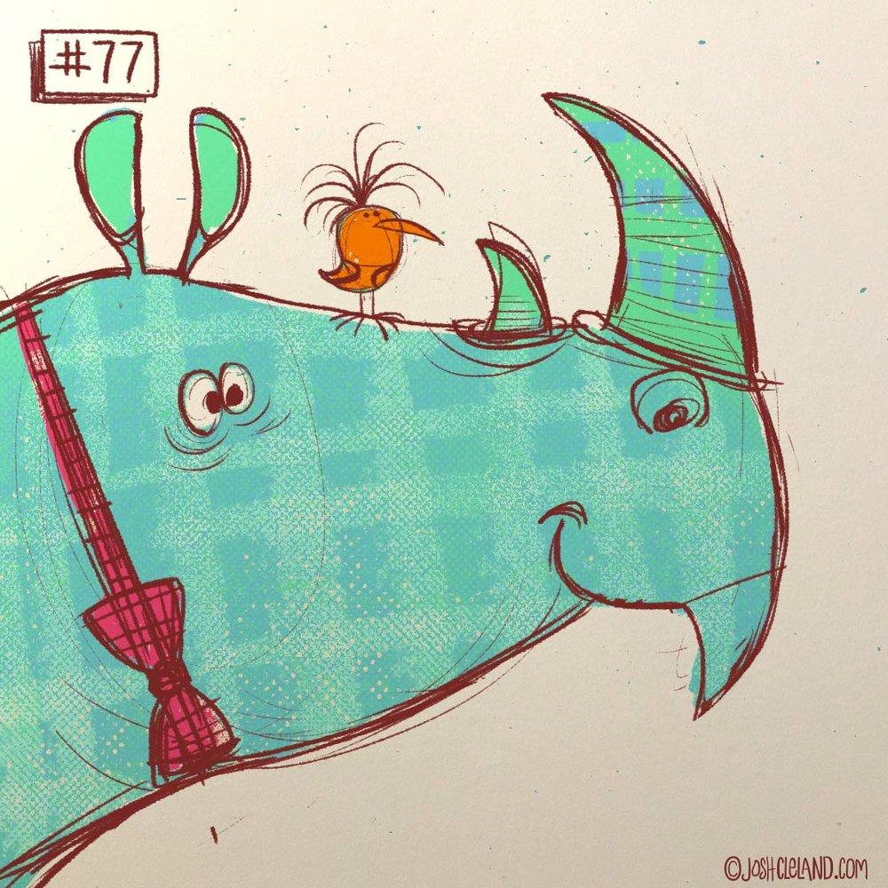 Land of Cle rhino illustration by Josh Cleland
