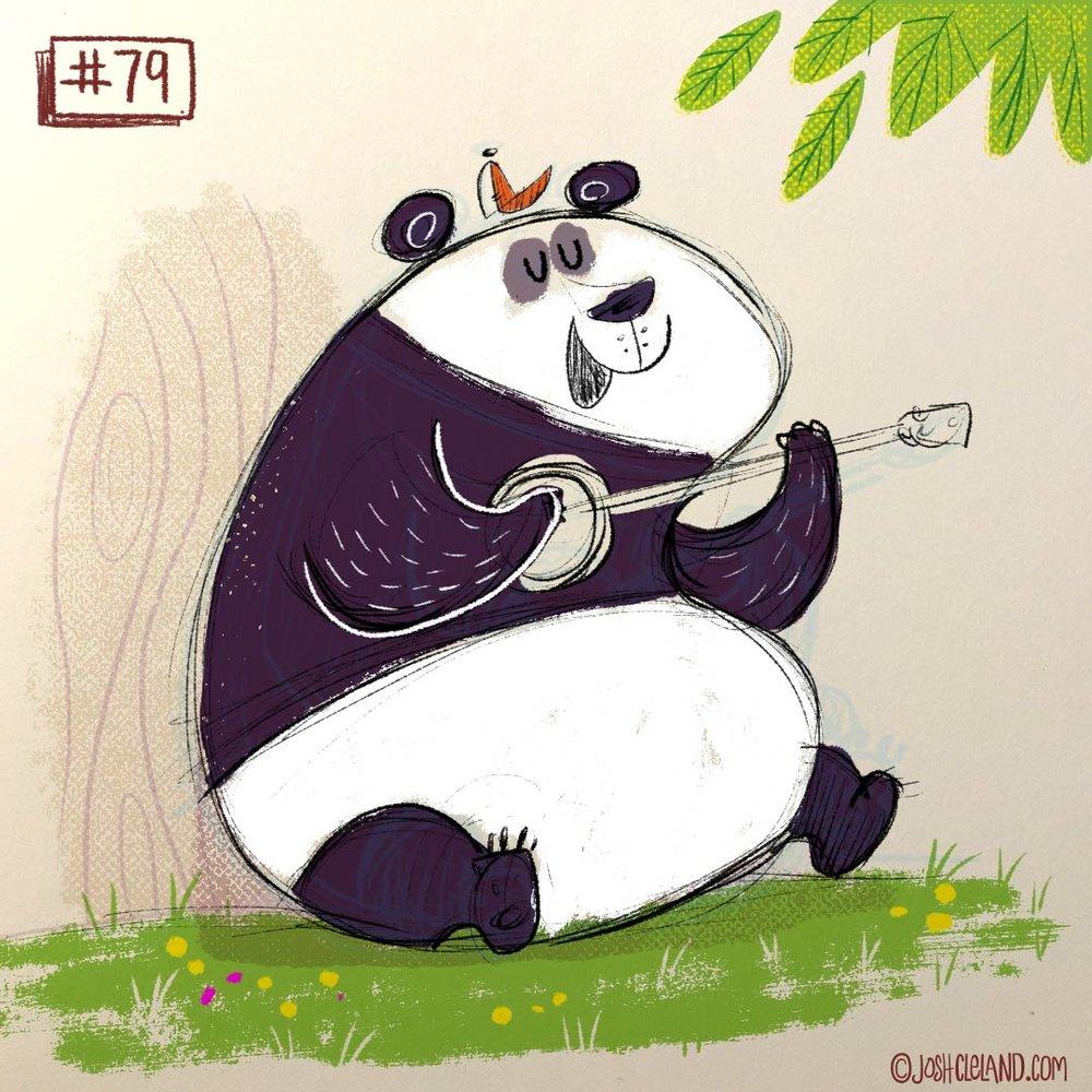 Land of Cle panda illustration by Josh Cleland