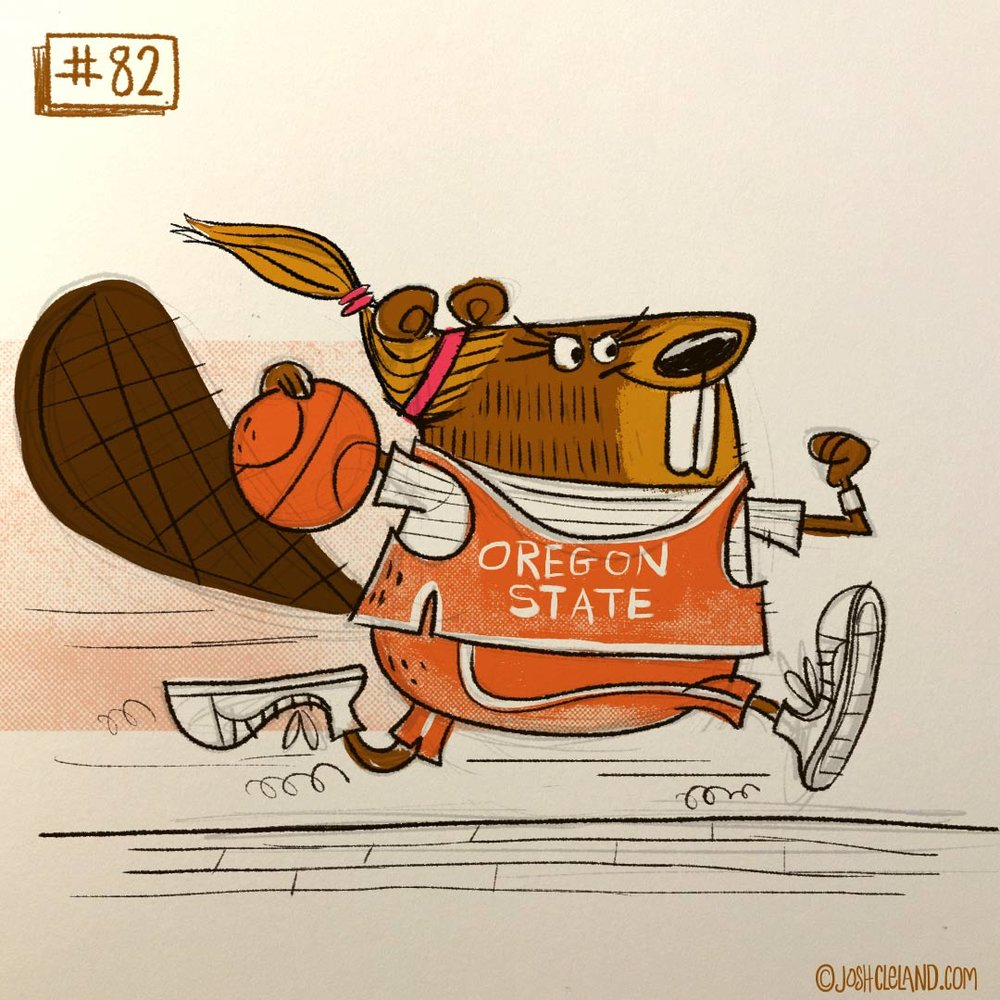 Land of Cle beaver illustration by Josh Cleland