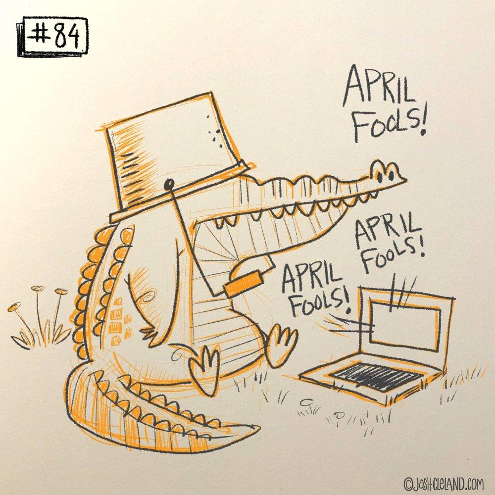Land of Cle gator illustration by Josh Cleland