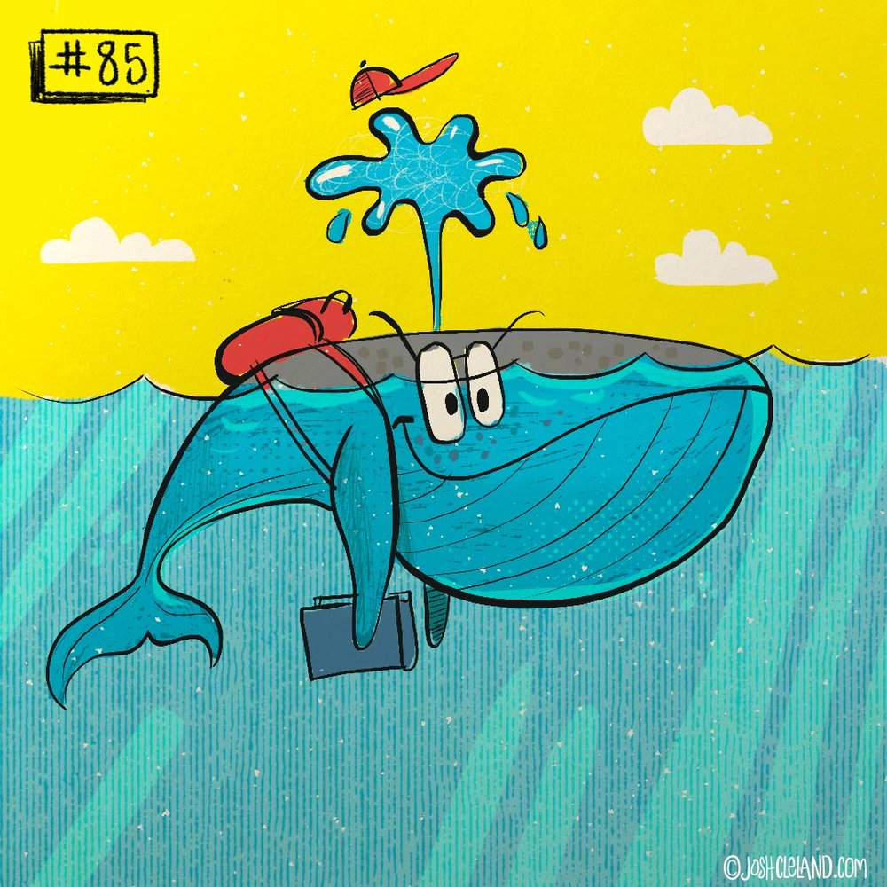 Land of Cle whale illustration by Josh Cleland