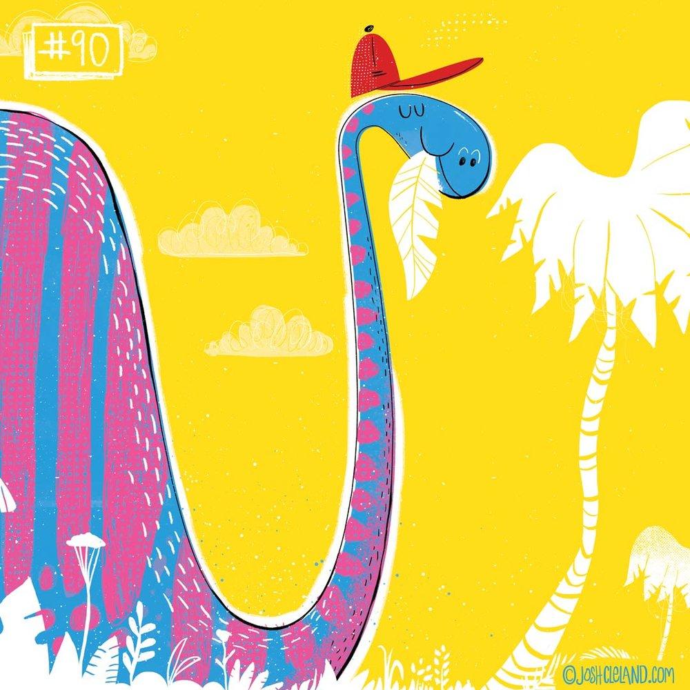 Land of Cle dinosaur illustration by Josh Cleland
