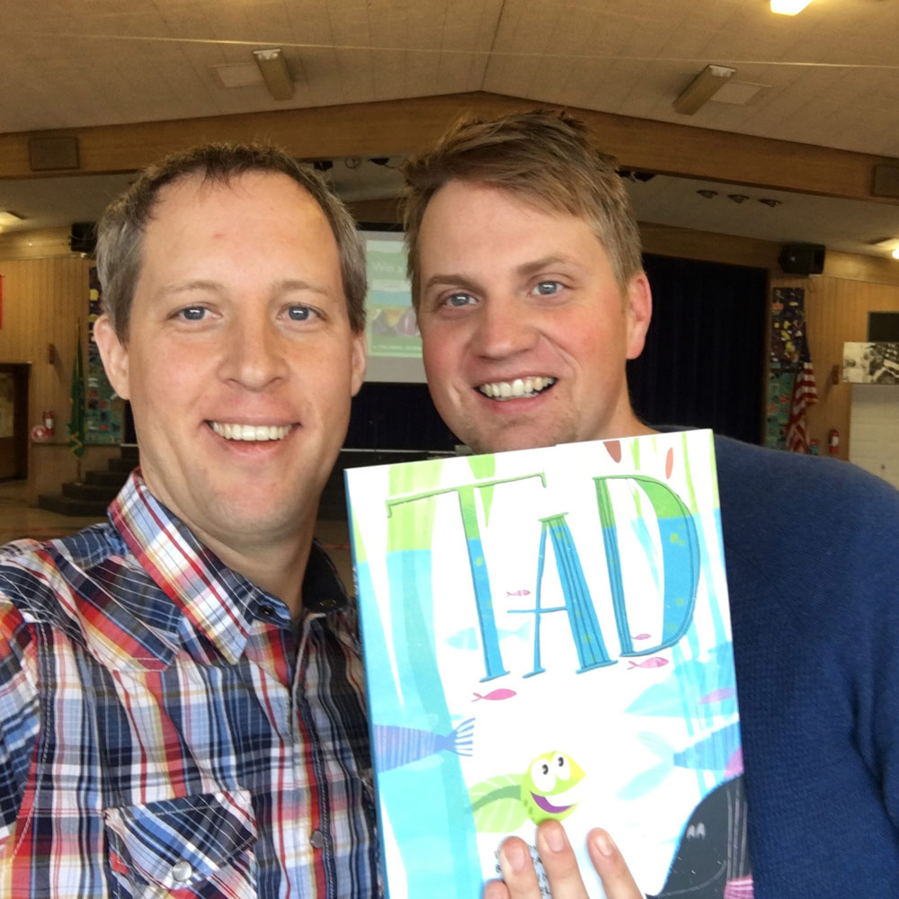 Brad and me at Grant Elementary in Tacoma, WA. (Brad is on the right.)