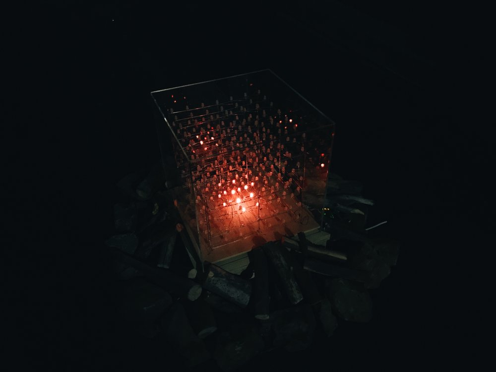 The Common Campfire is an interactive light installation designed to bring unfamiliar people together in unexpected urban environments. -