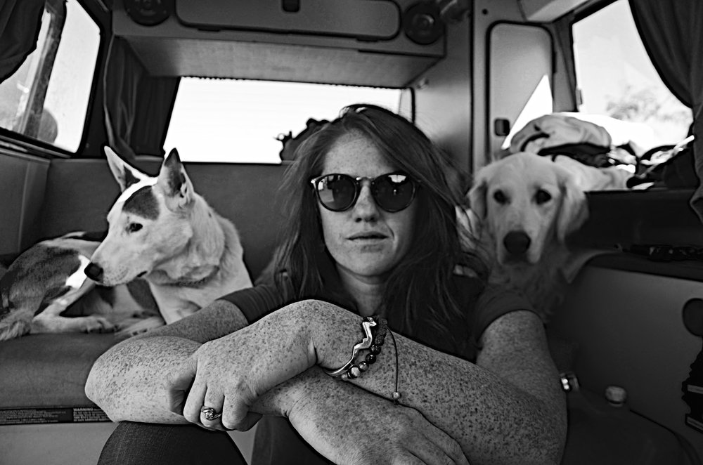 Van life in Ginger with my girls, Cricket and Sister.