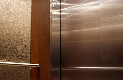 Durable Elevator Panel The textured stainless steel provides additional durability for high traffic elevator interiors.