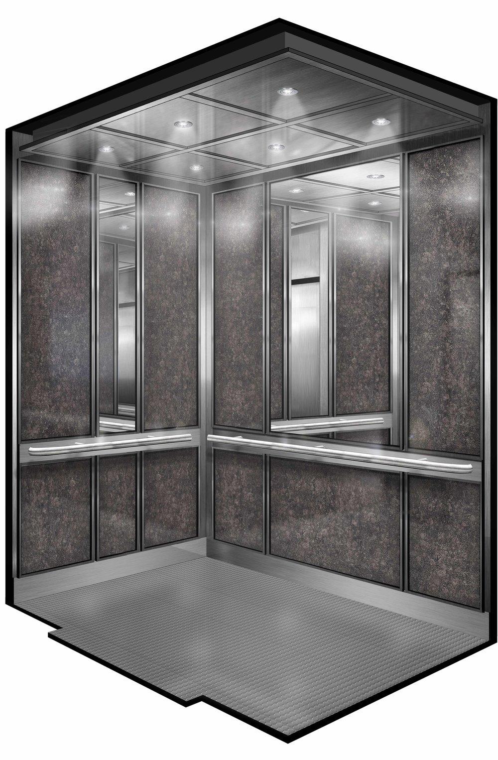 Elevator Interior Rendering