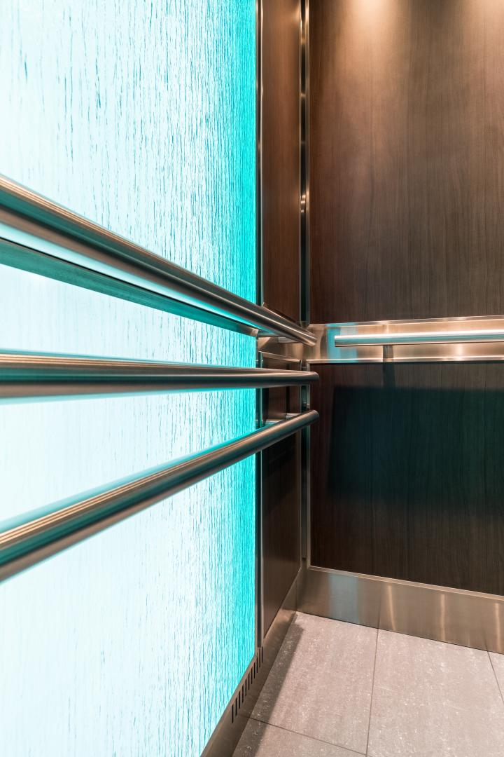 "Custom Elevator Light Panel   ""Textured Glass Panel"""
