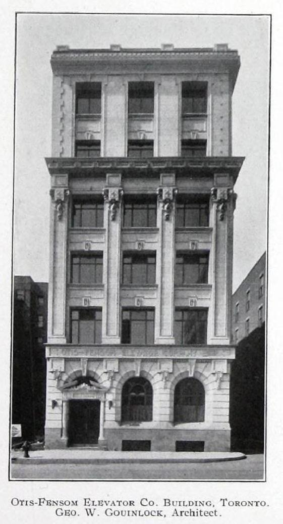 Otis-Fensom Elevator Company Building. 50 Bay Street, circa 1914.