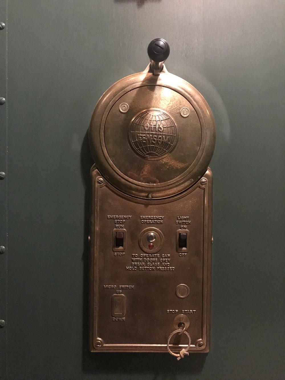 Otis Fensom Operator Switch - 1908