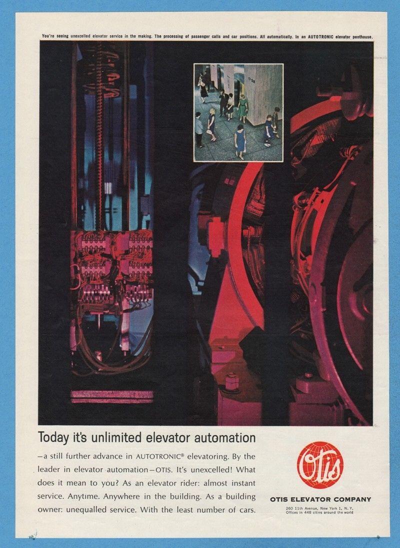 1962 Otis Elevator Company Autotronic Penthouse Elevatoring Automation Print Ad.jpg