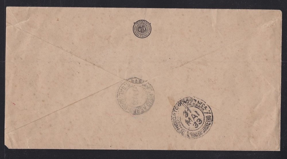 BRAZIL 1933 OTIS ELEVATOR INTERNAL AIRMAIL COVER RIO TO BAHIA SAO SALVADOR B.jpg