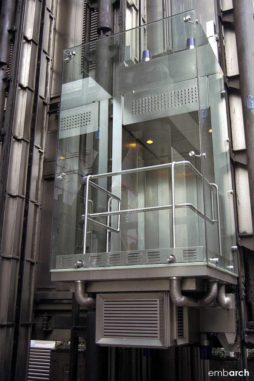 Lloyds Building Elevator London Uk