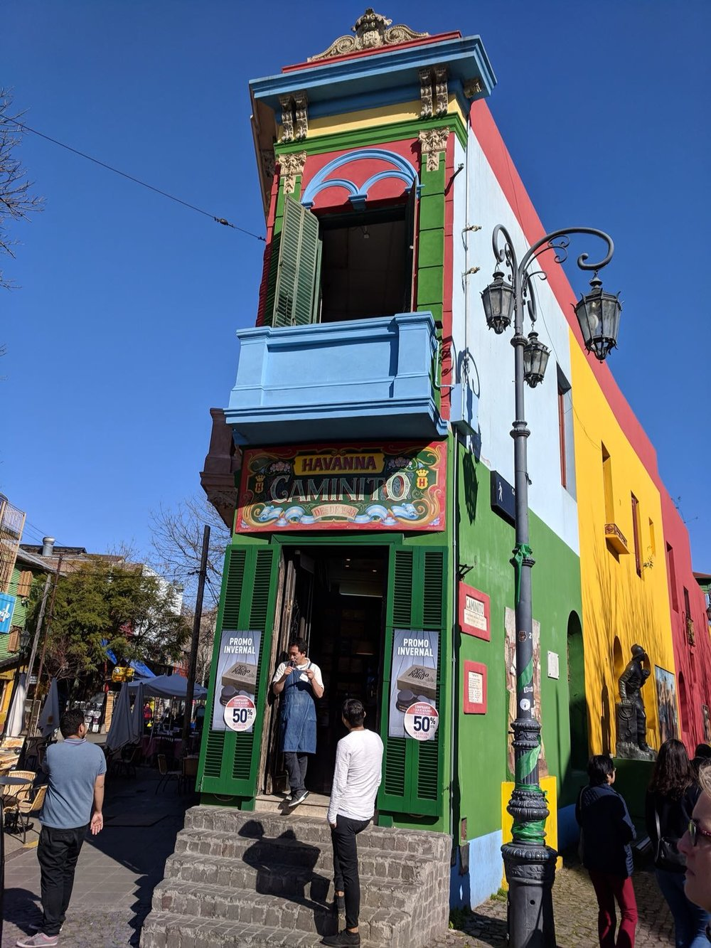 This little souvenir shop is one of the many colourful shop fronts that can be found in La Boca