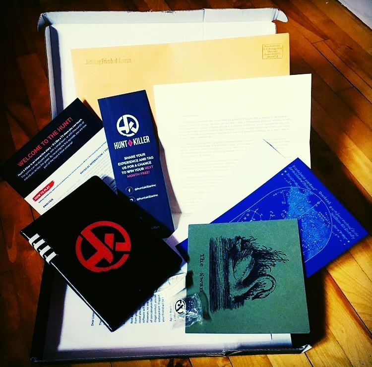 Actual Hunt A Killer Subscription Box