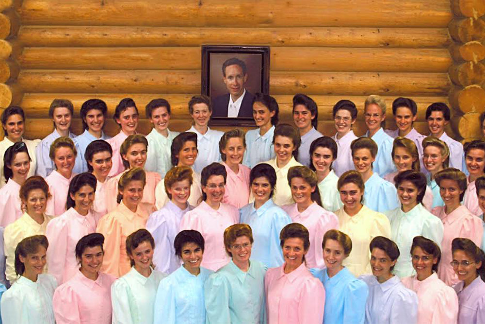 Warren Jeffs, leader of the FLDS church and his wives