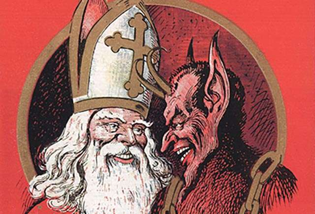 BFFs Saint Nick and Krampus