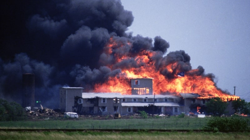 Mount Carmel Center Burns in April 1993