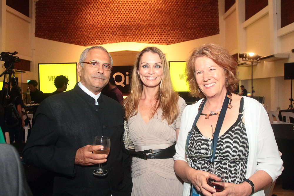 (L-R) President Dr. Ramos-Horta; Mamakan, Co-founder of Qi GLOBAL; Dr. Cathy Henkel, film director and producer.