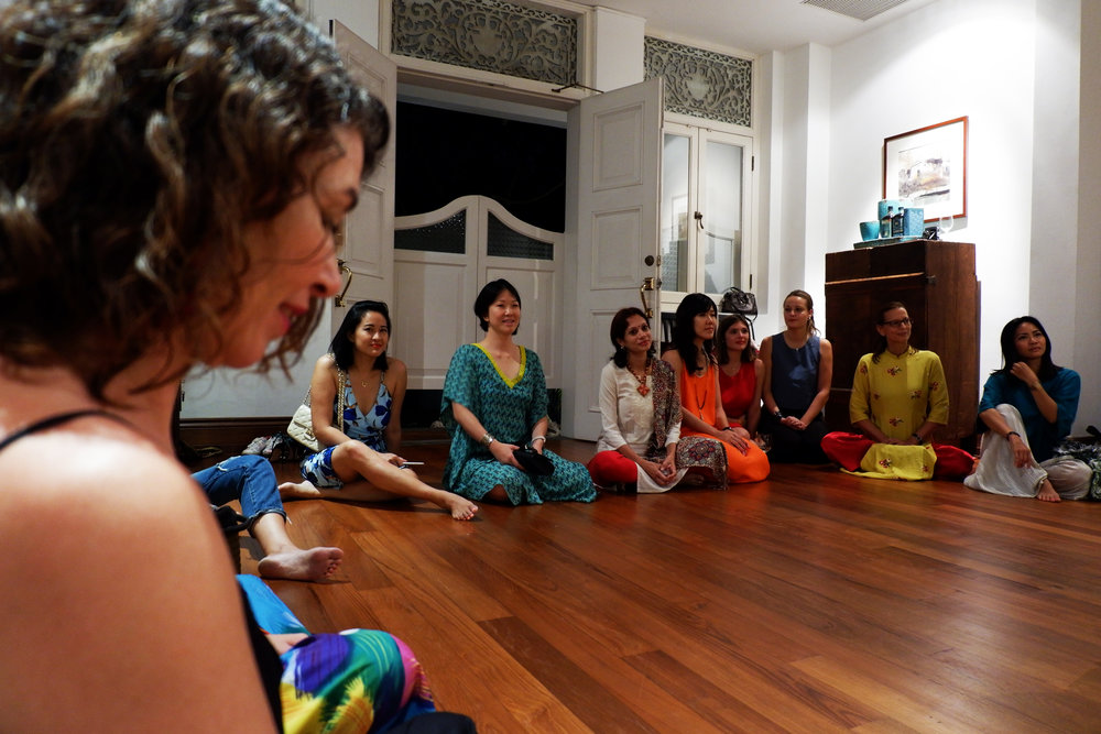 And playing the sound scape made from the poem and 27 women reciting it.