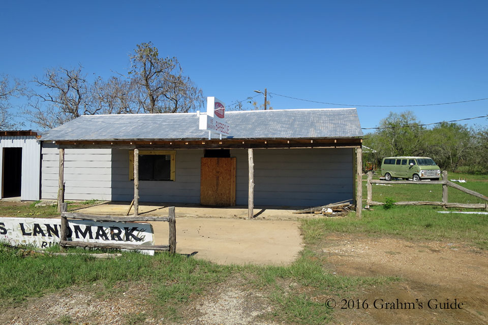 "The Gas Station / BBQ Shack from  The Texas Chain Saw Massacre  in November 2015  This isn't angle seen in the movie, but it shows some of the work being done by the new owners of ""The Gas Station"""