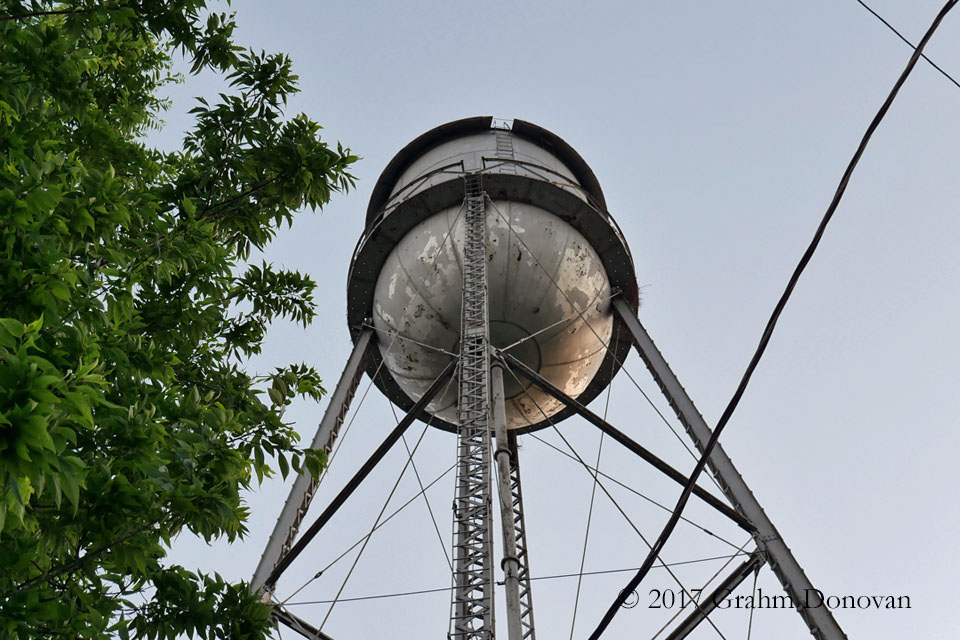 Endora Water Tower Close-up
