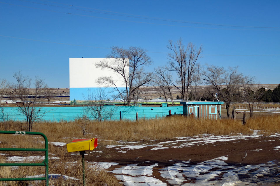 The drive-in / reeducation camp from   Red Dawn   (1984), as seen in November 2013