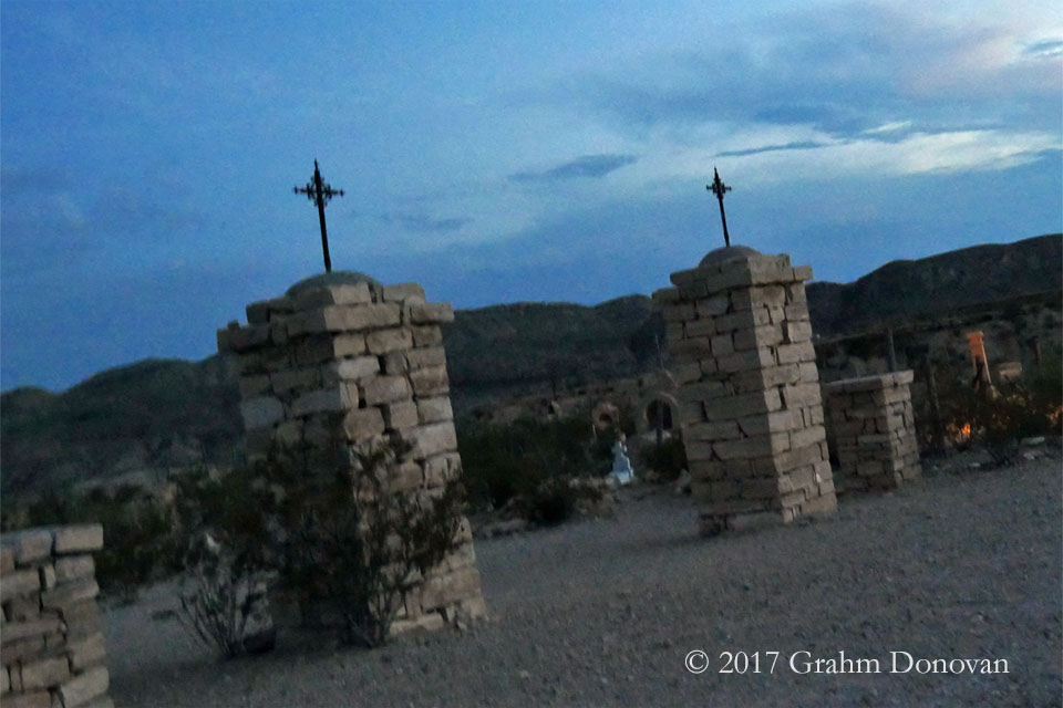 "The graveyard from ""My Maria,"" as seen in July 2017"