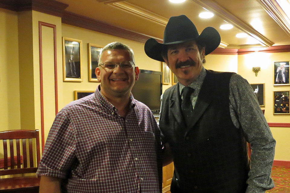 Meeting Kix Brooks after a screening of his film   Ambush at Dark Canyon   (2012)