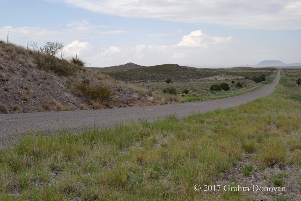 The location of the coyote carcass of  Fandango , as seen in July 2017