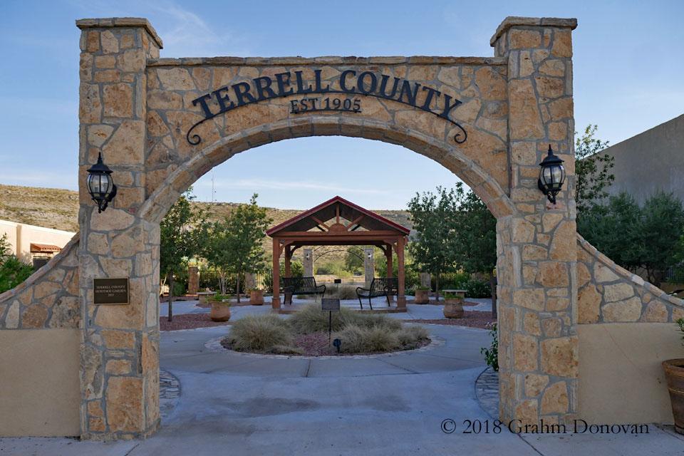 Terrell County Heritage Garden Entryway