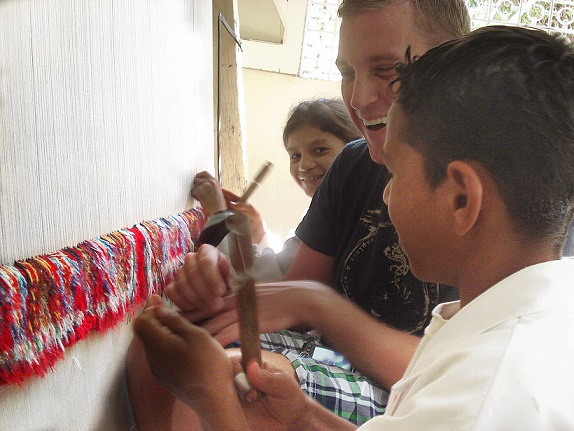 Learning the craft of carpet making at a school in Cairo, Egypt