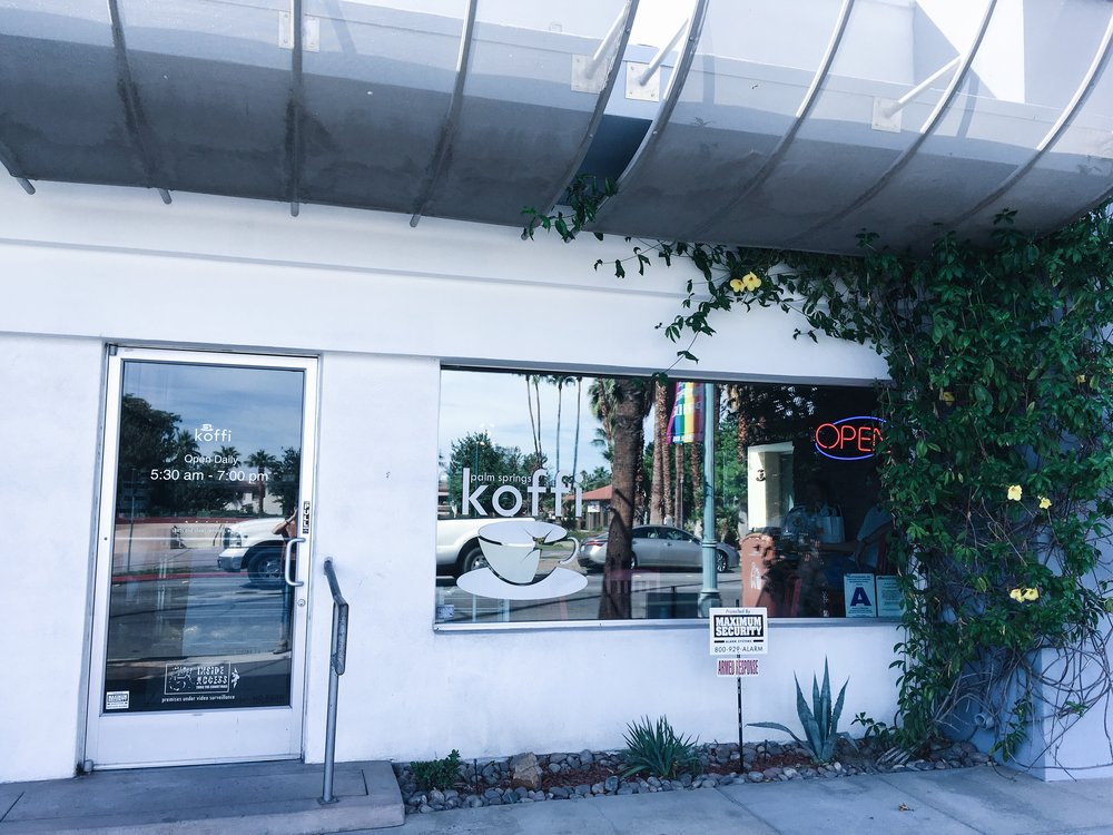 Koffi is always my first stop when arriving to Palm Springs. It's down the main street so it's easy to find. Their coffee is a bit strong but the flavor is really good so if you're a coffee lover like me you definitely have to try this place!  515 N Palm Canyon Dr, Palm Springs, CA 92262