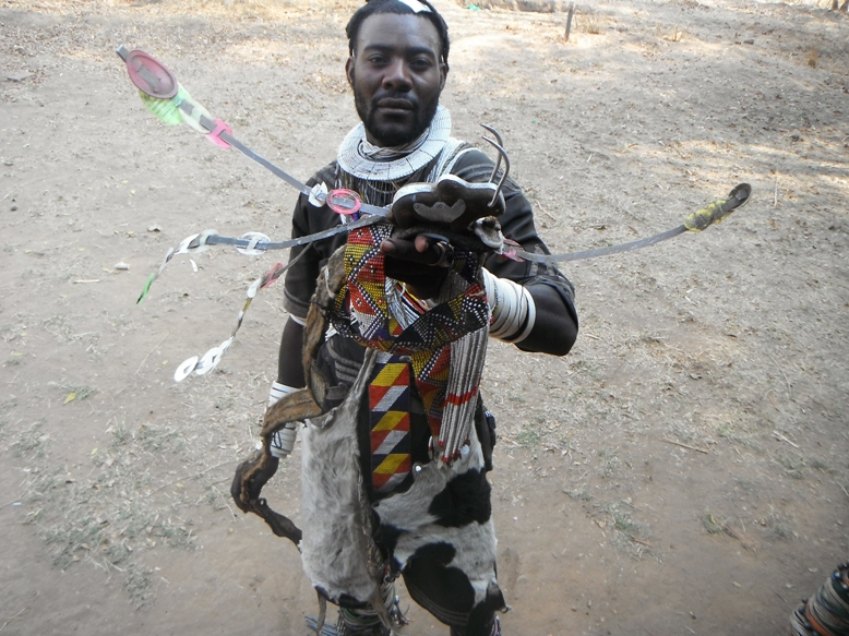 A lion dancer ready to dancy for reward in Mpimbwe (Photo by Peter Genda).JPG