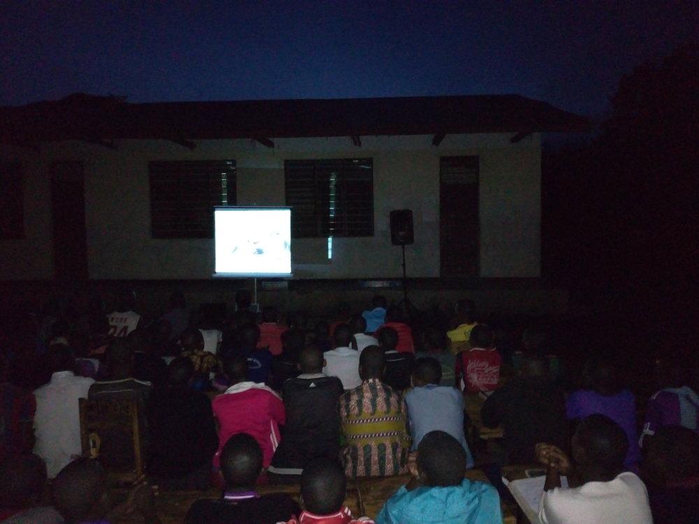 Film night at Mbede Secondary school on November 22, 2018.