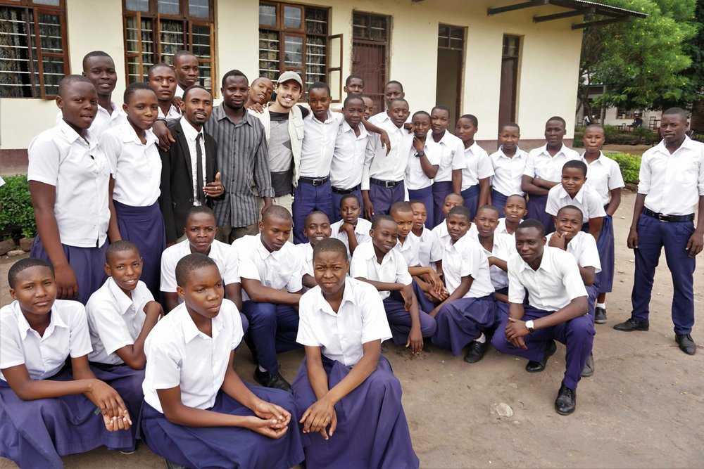 Mamba Secondary School Environmental Club meeting with students, 23th November 2018
